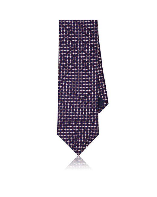 Piattelli - Blue Neat Silk Foulard Necktie for Men - Lyst