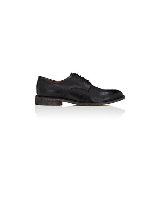 Barneys New York - Black Distressed Leather Bluchers for Men - Lyst