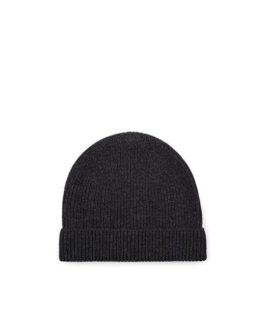 Barneys New York - Gray Rib-knit Wool-cashmere Beanie for Men - Lyst