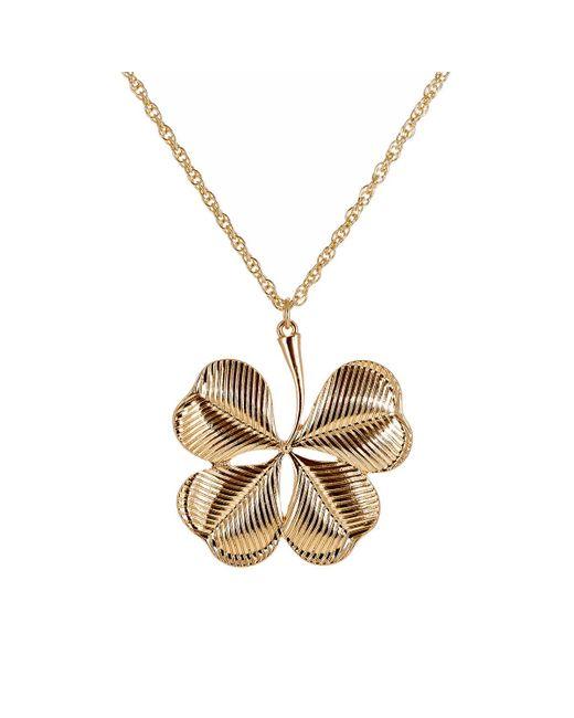 Kenneth Jay Lane | Metallic Clover Pendant Necklace | Lyst
