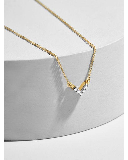 BaubleBar - Multicolor Adina Reyter Super Tiny Pavé V Necklace - Lyst