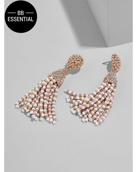 BaubleBar | Metallic Mini Piñata Tassel Earrings-white/rose Gold | Lyst