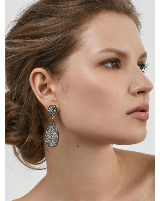 BaubleBar - Gray Moonlight Druzy Drop Earrings - Lyst
