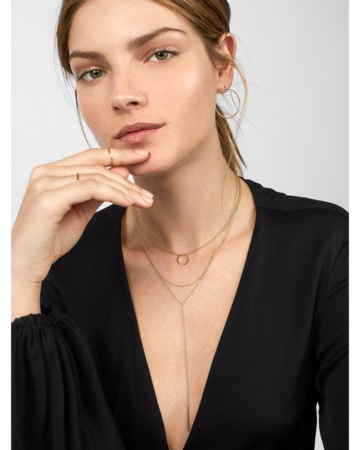 BaubleBar - Metallic Anello 18k Gold Plated Necklace - Lyst