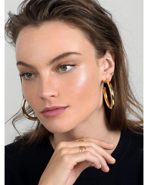 BaubleBar - Metallic Mini Penelope Hoop Earrings - Lyst