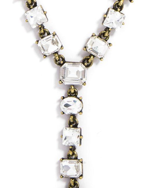 BaubleBar | White Princess Gem Y-chain | Lyst