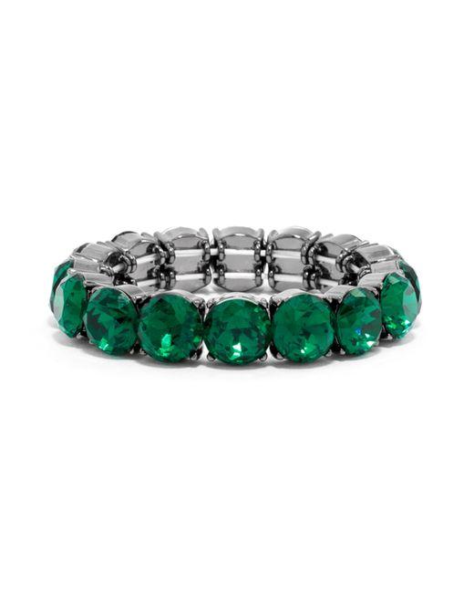 BaubleBar | Green Round Cut Gem Stretch Bracelet | Lyst