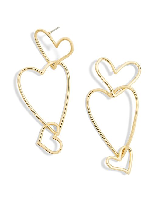 BaubleBar | Multicolor Minimal Heart Drop Earrings | Lyst