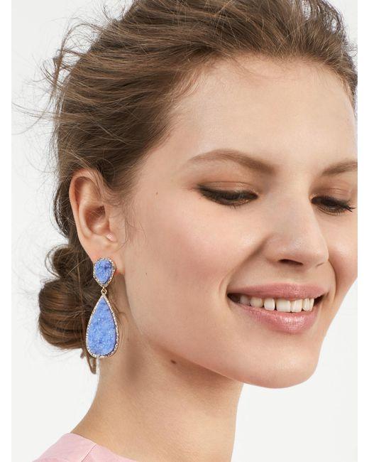 BaubleBar - Blue Moonlight Druzy Drop Earrings - Lyst