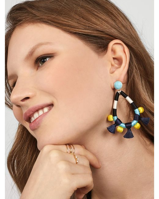 BaubleBar | Blue Sardinia Tassel Earrings | Lyst