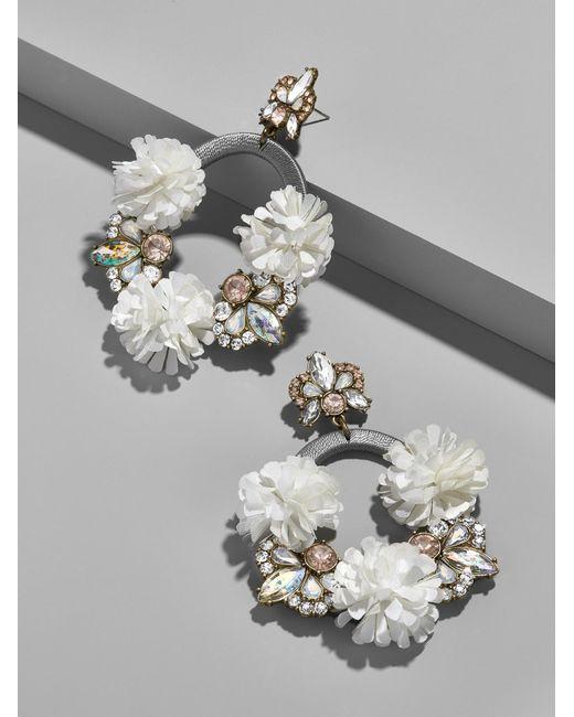 BaubleBar - Multicolor Ice Lily Hoop Earrings - Lyst