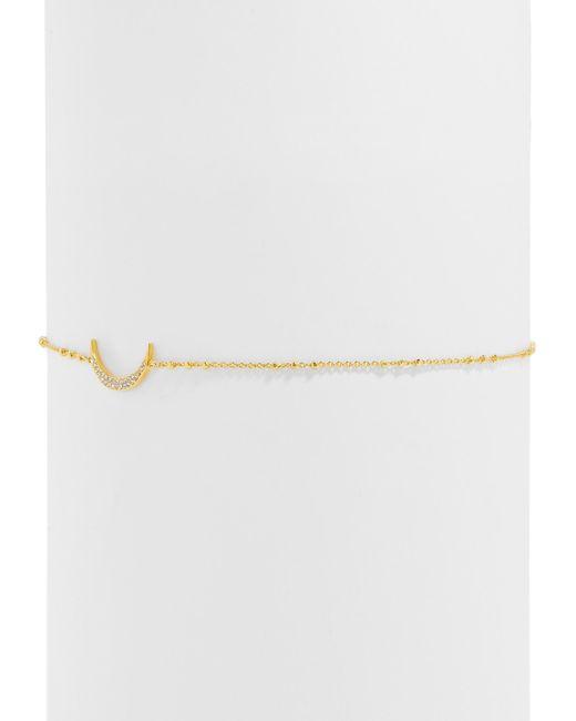 BaubleBar | Multicolor Asymmetrical Pavé Crescent Choker | Lyst