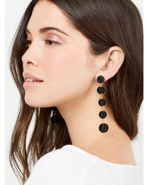 BaubleBar | Black Evelyn Ball Drop Earrings | Lyst