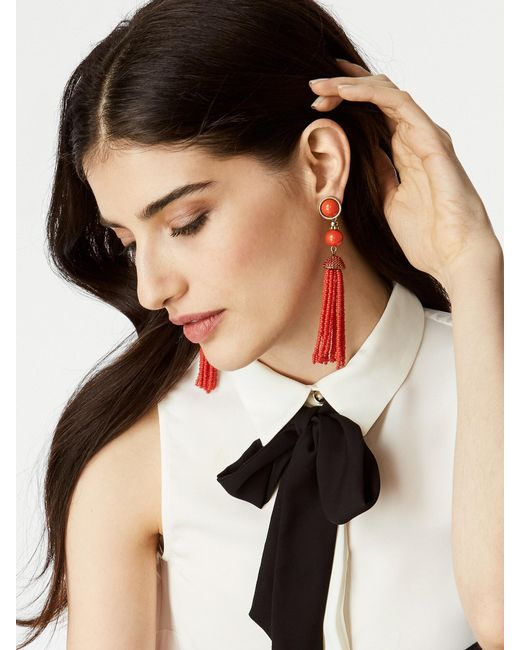BaubleBar   Red Artemis Tassel Earrings   Lyst