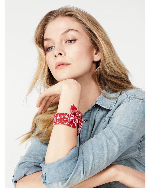 BaubleBar | Red Kenzie Bandana Bracelet | Lyst