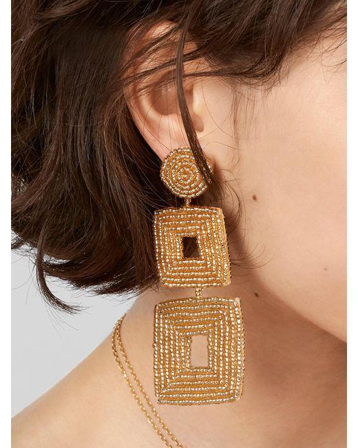 BaubleBar - Black Henna Drop Earrings - Lyst