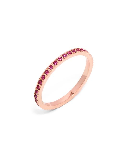 BaubleBar - Pink Pavé Eternity Ring - Lyst