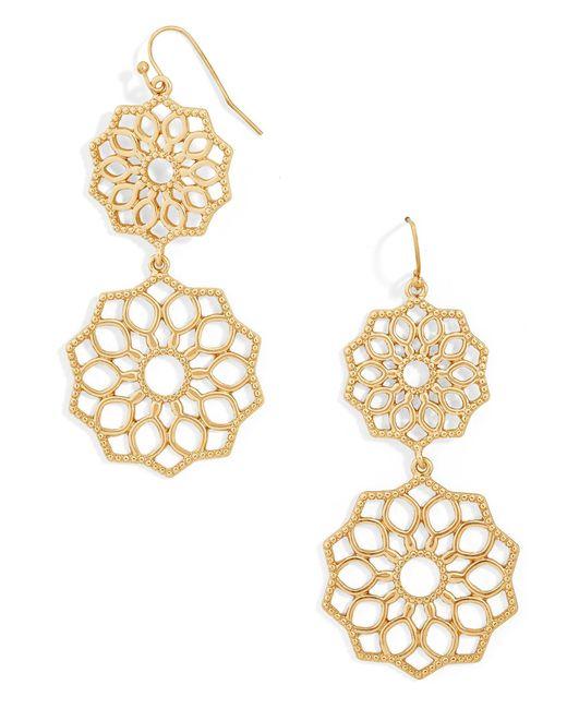 BaubleBar | Metallic Florentine Drop Earrings | Lyst