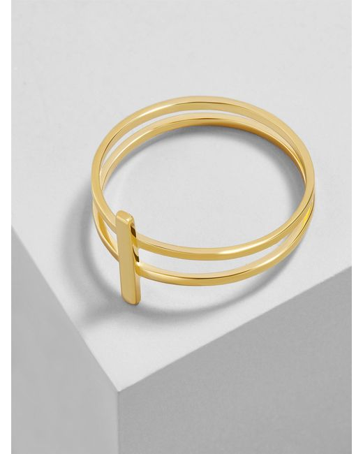 BaubleBar - Metallic Contorno 18k Gold Plated Ring - Lyst