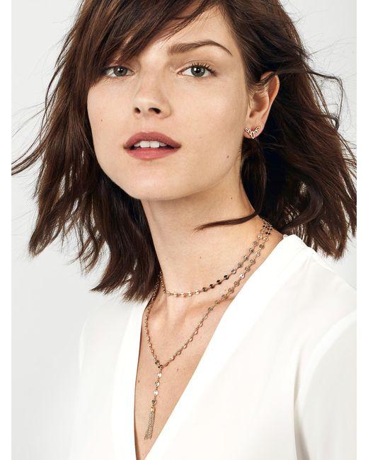 BaubleBar - Metallic Abbie Y-choker Necklace - Lyst