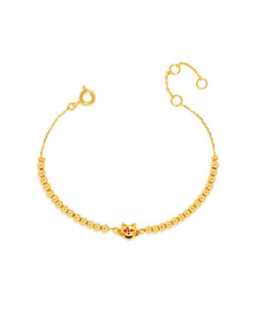 BaubleBar | Metallic Lovestruck Kitty Emoticharm Bracelet | Lyst