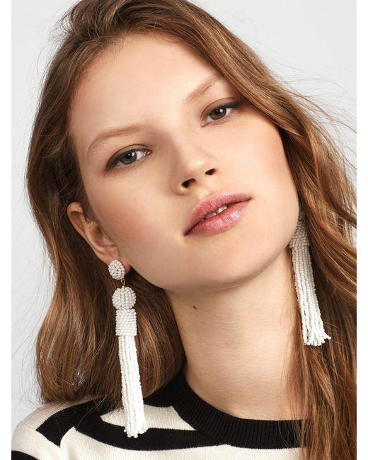 BaubleBar | White Mariachi Tassel Earrings | Lyst