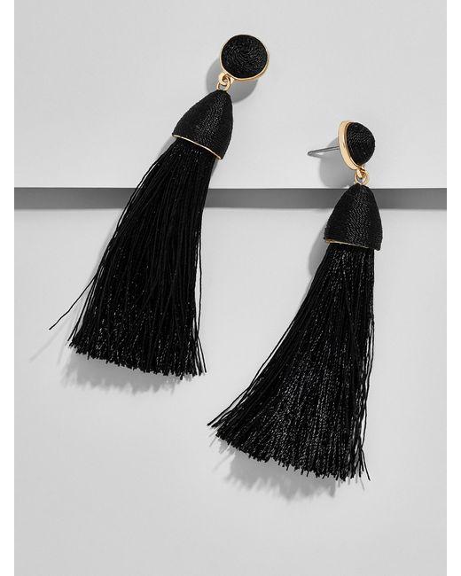 BaubleBar - Black Rosabella Tassel Earrings - Lyst