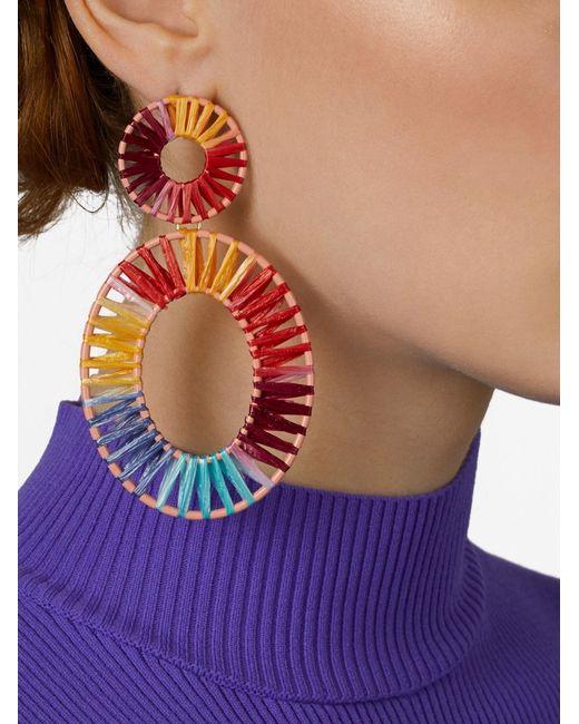 BaubleBar - Multicolor Kiera Raffia Statement Earrings - Lyst