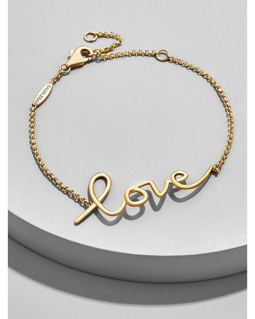 BaubleBar - Multicolor L'amour 18k Gold Plated Bracelet - Lyst