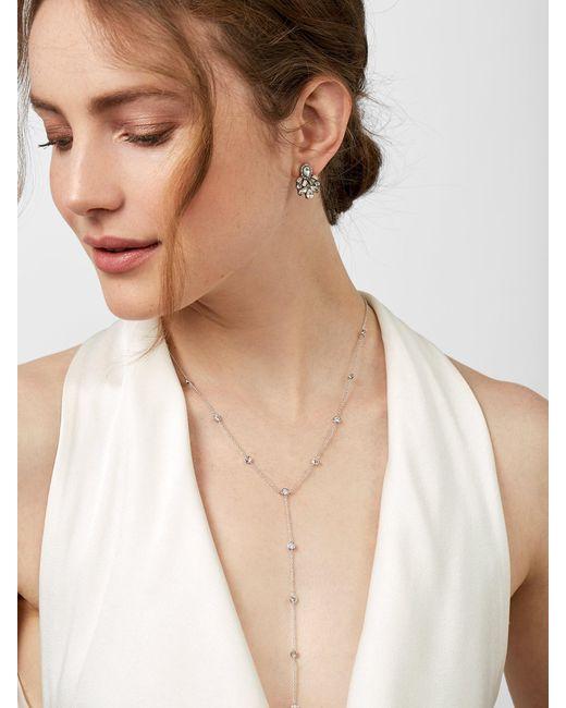 BaubleBar - Metallic Silvia Cubic Zirconia Y-necklace - Lyst