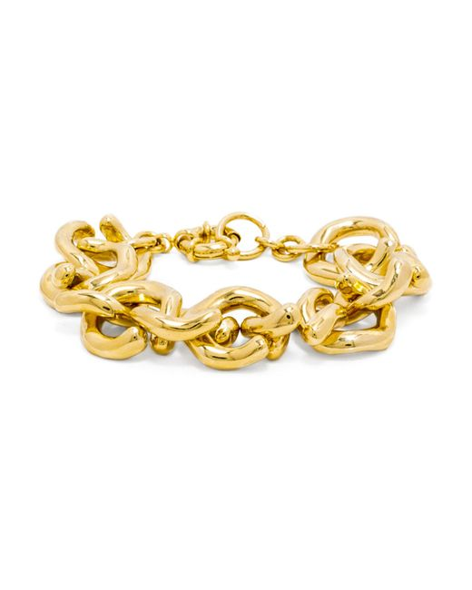 BaubleBar | Metallic Gold Mary Links Bracelet | Lyst