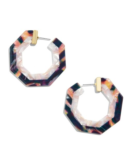BaubleBar - Blue Deidre Resin Hoop Earrings - Lyst