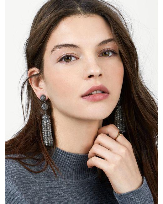 BaubleBar | Gray Tinsley Tassel Earrings | Lyst