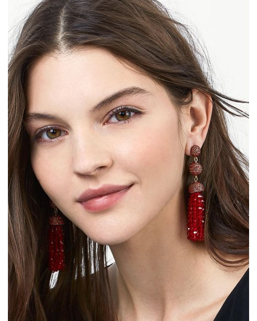 BaubleBar | Red Tinsley Tassel Earrings | Lyst