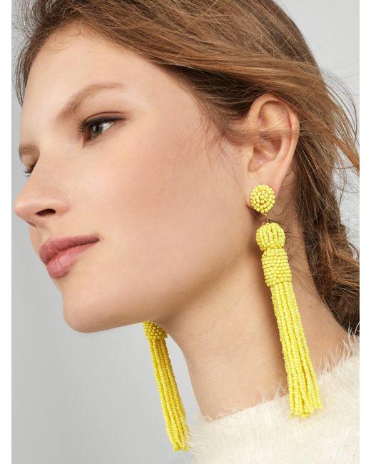 BaubleBar   Yellow Mariachi Tassel Earrings   Lyst