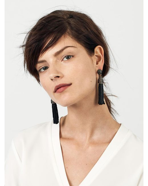 BaubleBar - Black Piñata Tassel Earrings - Lyst