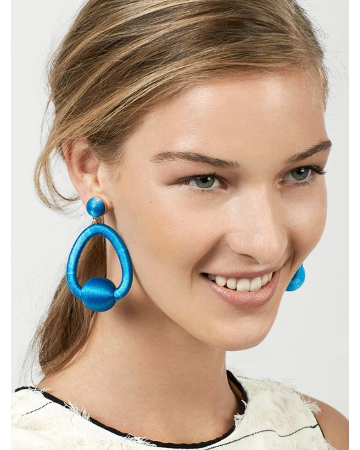 BaubleBar | Blue Mariela Hoop Earrings | Lyst