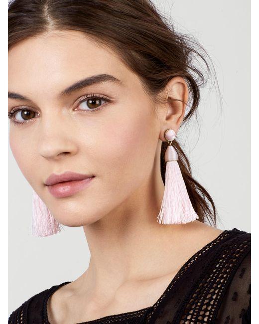 BaubleBar   Pink Rosabella Tassel Earrings   Lyst