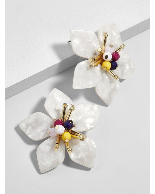 BaubleBar - White Amarise Flower Resin Stud Earrings - Lyst