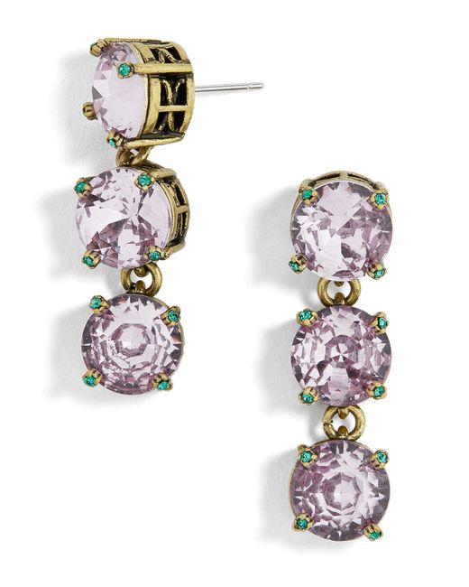 BaubleBar - Gray Cariana Glass Drop Earrings - Lyst