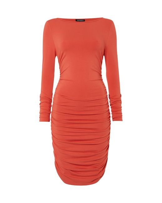 Baukjen - Red Ruched Jersey Dress - Lyst
