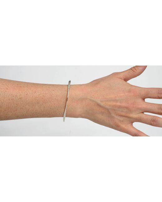 Kaufmann Mercantile   Metallic Hammered Sterling Silver Bracelet   Lyst