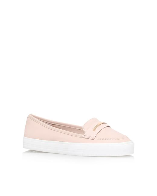 Carvela Kurt Geiger | Natural Leap Flat Slip On Loafers | Lyst