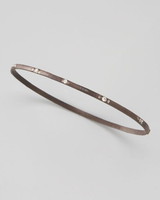 Armenta | Gray Diamond Bangle | Lyst