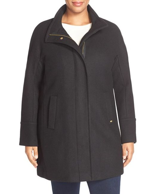 Ellen Tracy | Black Wool Blend Stadium Coat | Lyst
