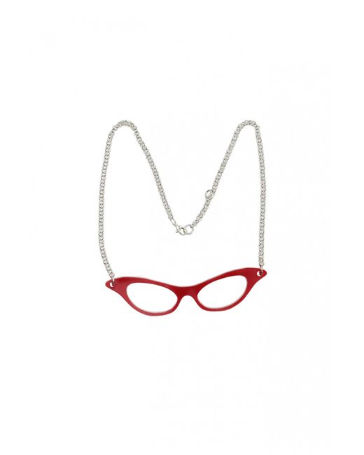 Yazbukey | Red Butterfly Sunglasses Necklace | Lyst