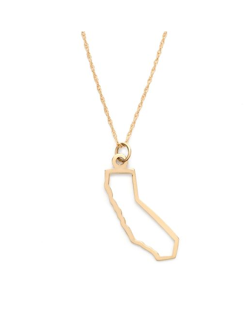 J.Crew | Metallic Maya Brenner 14k Gold State Necklace | Lyst