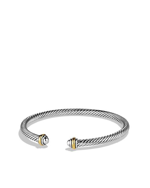 David Yurman | Metallic Cable Classics Bracelet With 18k Gold, 4mm | Lyst
