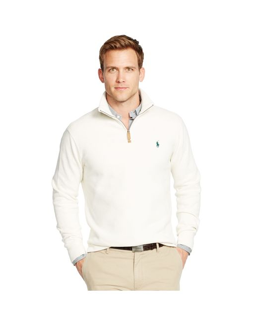 Polo Ralph Lauren   Natural French Rib Half-zip Pullover for Men   Lyst