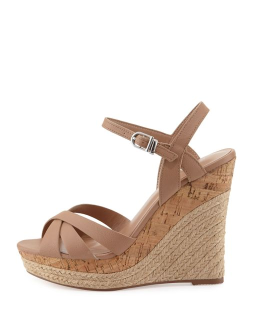 Charles By Charles David Astro Leather Wedge Sandal In